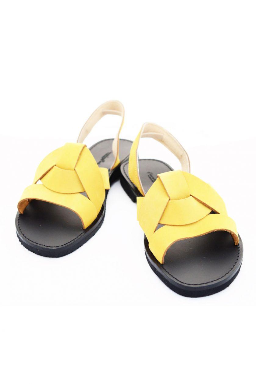 Sandale damă FUNKY CITY, galben - muștar