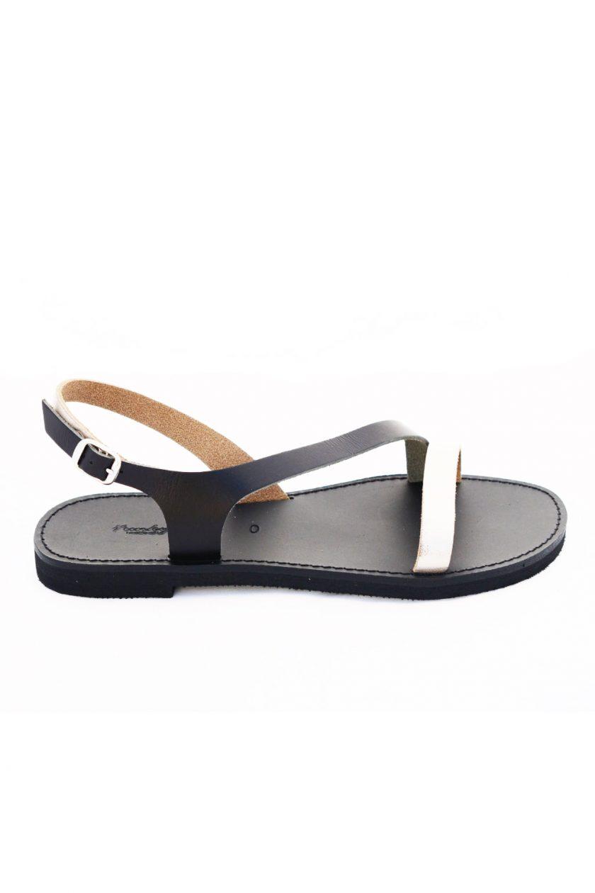 Sandale cu talpă joasă FUNKY STRIPES, grej metalic