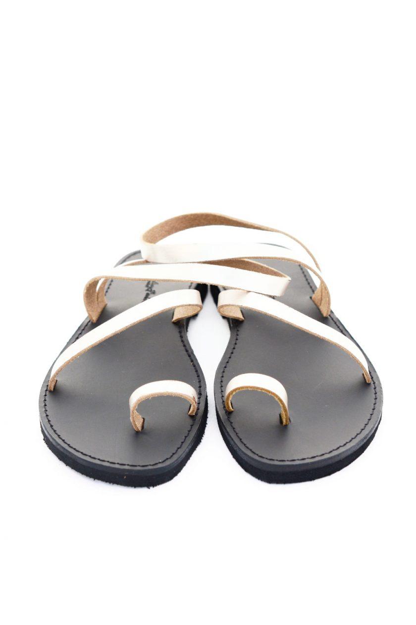 Sandale cu talpă joasă FUNKY DAY, grej metalic